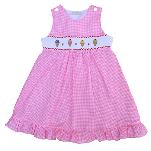 Girls Hand Smocked Dress Pink