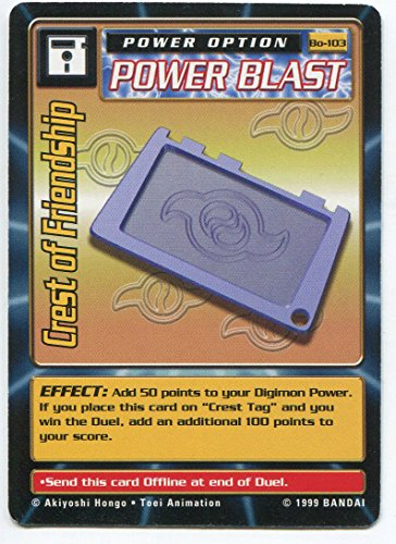 - Digimon Card - Crest of Friendship Bo-103 - Power Option
