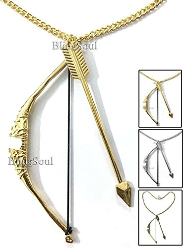 Bow and Arrow Necklace Jewelry by BlingSoul - Halloween Costume Cosplay (Things That Come In Threes Halloween Costumes)