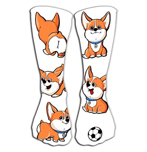 YILINGER Women's Knee High Socks Athletic Mid-Calf Socks 19.7