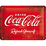 Plaque en metal - Coca Cola - Drink - Refresh yourself