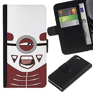 ARTCO Cases - Apple Iphone 6 4.7 - Cute Cartoon Muscele Superhero - Cuero PU Delgado caso Billetera cubierta Shell Armor Funda Case Cover Wallet Credit Card