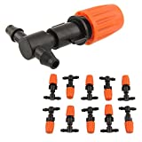 10pcs/Lot Plastic Adjustable Atomizing Sprinkler Nozzles Greenhouse Garden Flower Drip Irrigation