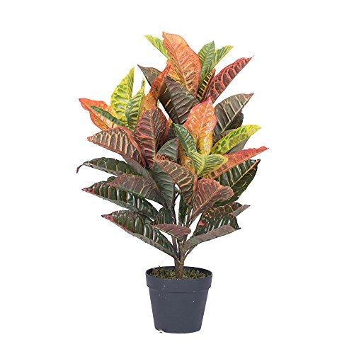 Vickerman T161130 Real Touch Croton Tree in Pot, 30'' by Vickerman