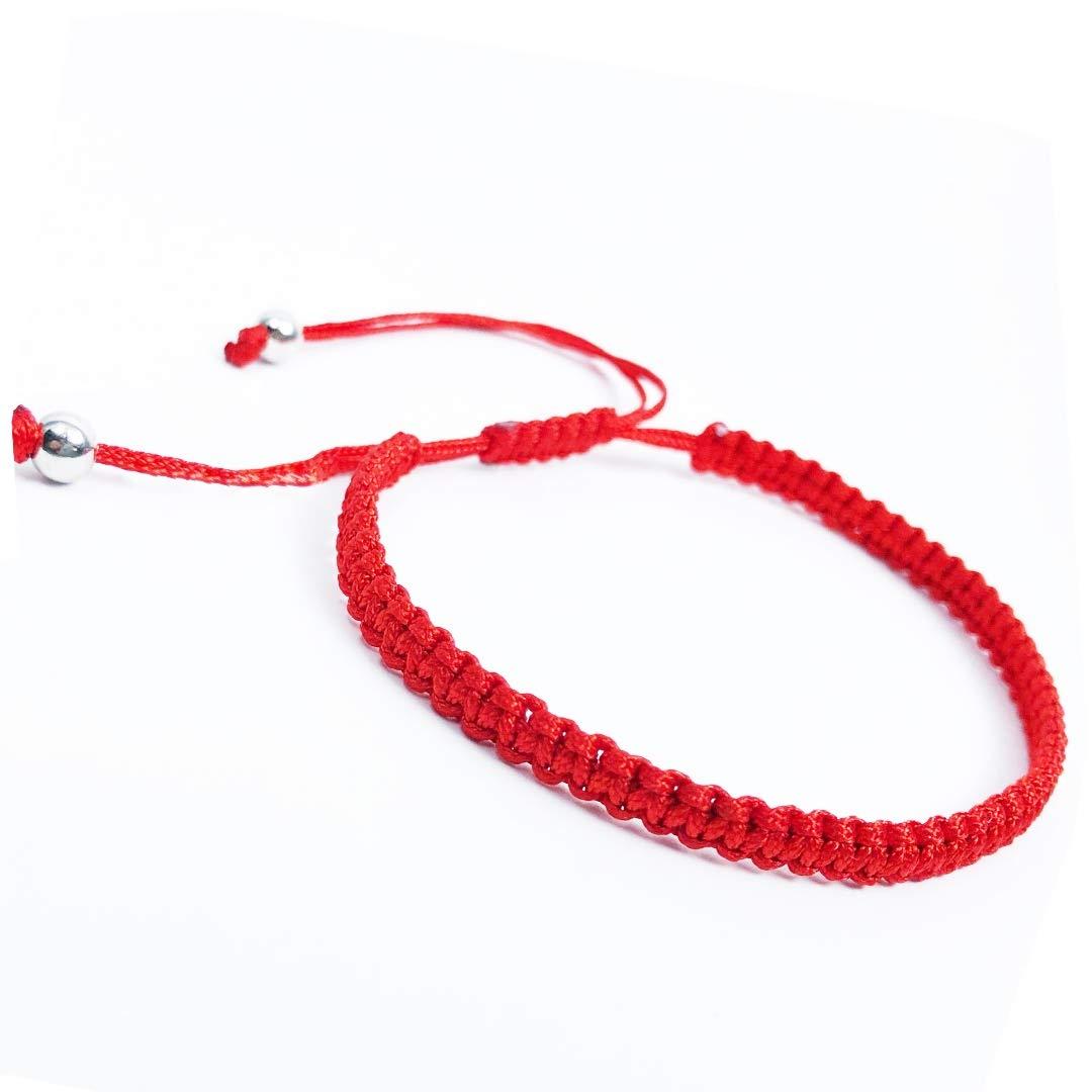 Braccialetto rosso Kabbalah per la buona fortuna e la protezione amuleto. Braacciale buddisti tibetano contro malocchio talismano
