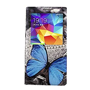 BL Pu Leather Flip Case for Samsung Galaxy s5 i9600 (butterfly)