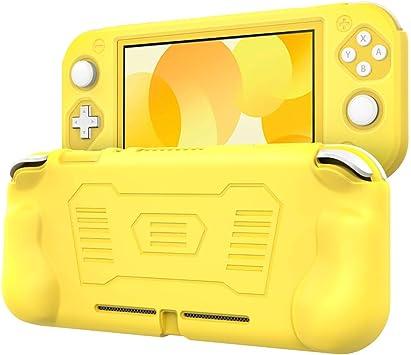 TiMOVO Funda Compatible con Nintendo Switch Lite Cubierta, Protector Silicona Antideslizante Tacto Cómodo con Asa Rellenos Integrados Ergonómico, para Switch Lite, Amarillo: Amazon.es: Electrónica