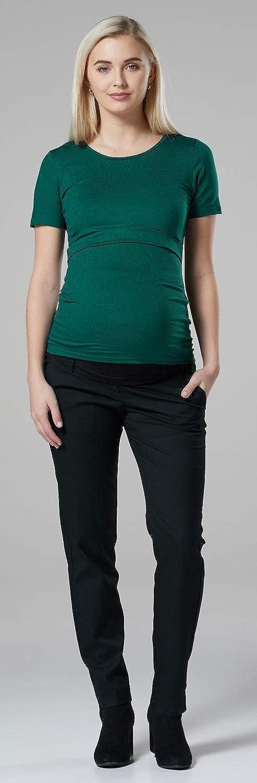 991c Damen Zweilagiges Still T-Shirt Rundhalsausschnitt Kurzarm Zeta Ville