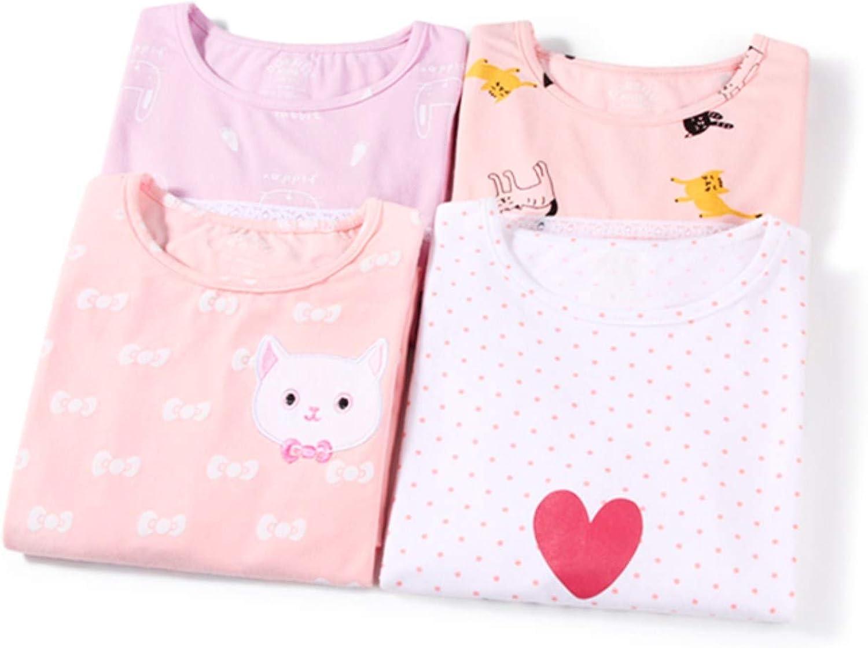 gattino Camicie da notte bambine e ragazze cotone biancheria da notte rosa 3-10 anni