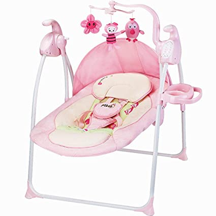 18423807d CWLLWC Silla Mecedora de bebé, Cuna eléctrica Cama Coax bebé artefacto Cuna  Asiento sillón Relajante