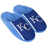 MLB Kansas City Royals Men's Mesh Logo Slide Slipper, Blue, Small (7-8)