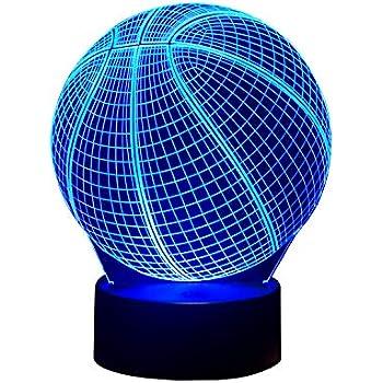 Amazon.com: 3d Baloncesto Luz Nocturna – Ilusión óptica ...