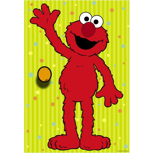DesignWear Sesame Street ELMO Party Game (12 peel off Nose Stickers) (Street Games Sesame)