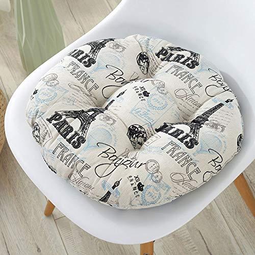Nicole Knupfer - Cojin para silla de jardin, 2 unidades, cojin para respaldo reclinable, cojin de respaldo bajo, con corbatas, almohadillas para silla de oficina y en casa, torre Eiffel, 30*30