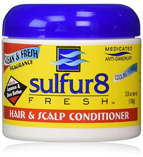 Sulfur 8 Fresh Medicated Anti-dandruff Hair & Scalp Conditioner 4 Oz (3.8 oz net wt.) (Best Hair Grease For Dandruff)