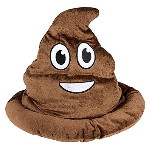 SILVERFEVER Plush Soft Animal Beanie Hat Halloween Cute Soft Warm Toddler to Teen (Emoji Brown Poop)