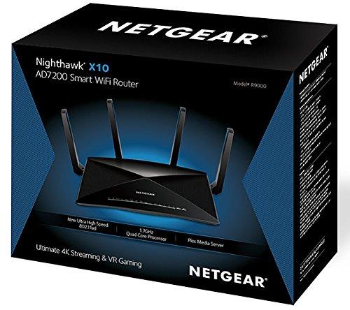 NETGEAR R9000 Nighthawk X10 Tri-Band AD7200 (7 2 Gbps) Smart Wi-Fi Router -  Alexa enabled