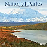 National Parks 2021 12 x 12 Inch Monthly Square Wall Calendar with Foil Stamped Cover, USA United States of America Scenic Nature