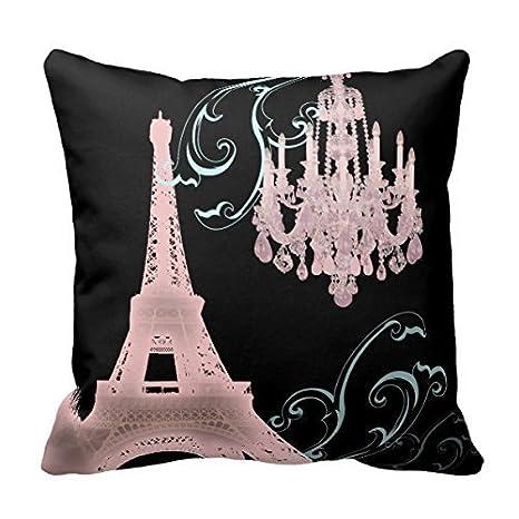 Decors Pink Chandelier Vintage Paris Decor Throw Pillow Case