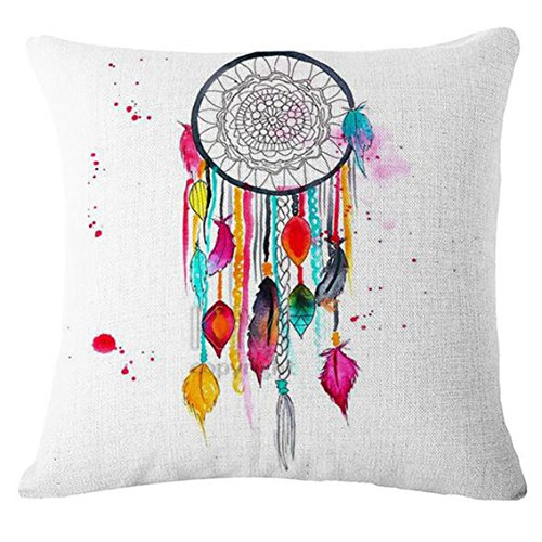 Information Decorative Floral Gift Box - PeiZe Bed Car Decoration, Dream Catcher Cotton Linen Cushion Cover (F)