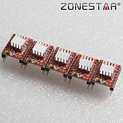 GIMAX A4988 Stepper Motor Driver Module with Heat Sink 3D Printer Parts Stepper Driver Drop Shipping ZONESTAR