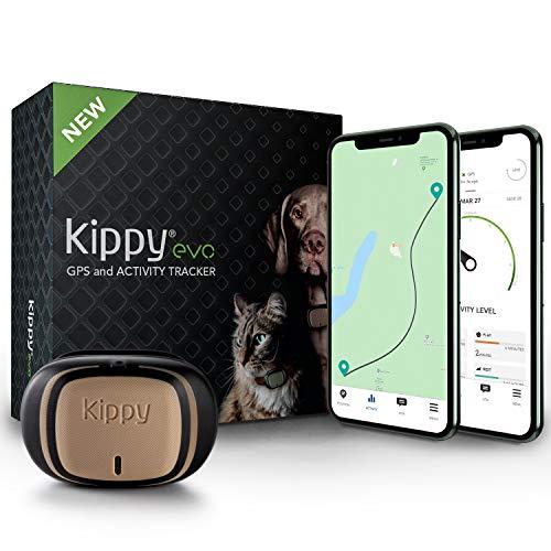 KIPPY – EVO – El Nuevo Collar GPS para Perros y Gatos – Seguimiento de Actividad, 38 gr, Waterproof, Bateria 10 dias…