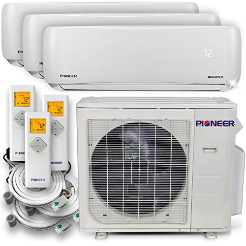 PIONEER Air Conditioner WYS030GMHI22M3 Multi Split System, Trio (3 Zone) (Best Ductless Air Conditioner Review)