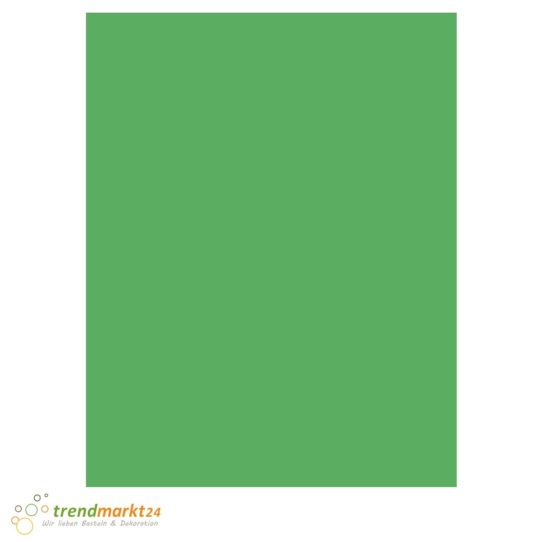 Tonpapier Gras-Grün ★ DIN A4 130 g/m² | 100 Blatt Set einfarbig 130 g/qm ✓ Bastel-Papier/Ton-Karton-Schul-Papier farbig zum basteln bemalen | Kinder Hochzeit - 8019583 trendmarkt24