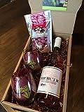 Mercer Estates Valentine's Day Gift Pack with Chukar Cherries, Wine Glasses and Rose, 1 x 750 mL
