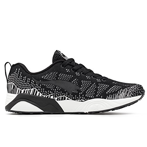 ONEMIX Mens Knit Pattern Sports Running Shoes Lightweight Womens Fashion Mesh Sneakers Black / White lQk22