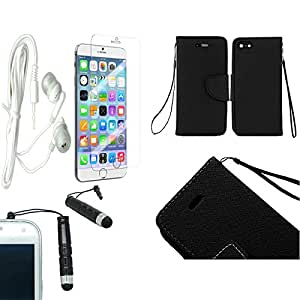 [STOP&ACCESSORIZE] BLACK WALLET STAND POUCH COVER LEATHER TILE FLIP CASE for APPLE IPHONE 6 4.7 INCH + FREE ACCESSORY KIT