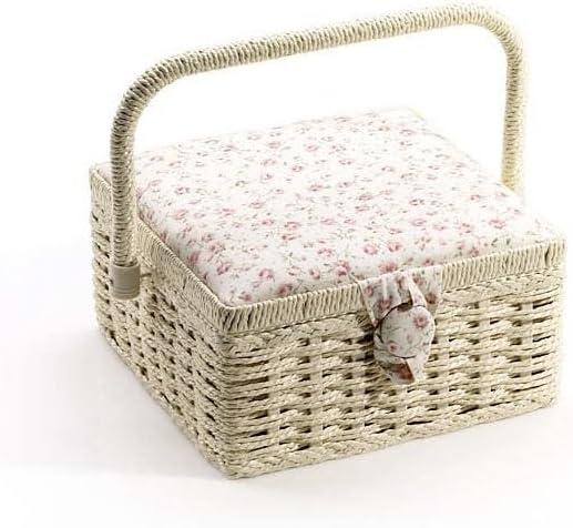 Caja de costura, tela costurero, costurero de flores: Amazon.es: Hogar