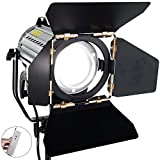 ASHANKS Wireless Remote Control Dimmable Bi-color LED150W LED Studio Fresnel Spot Light 3200-5500K for Camera Photo Video Equipment