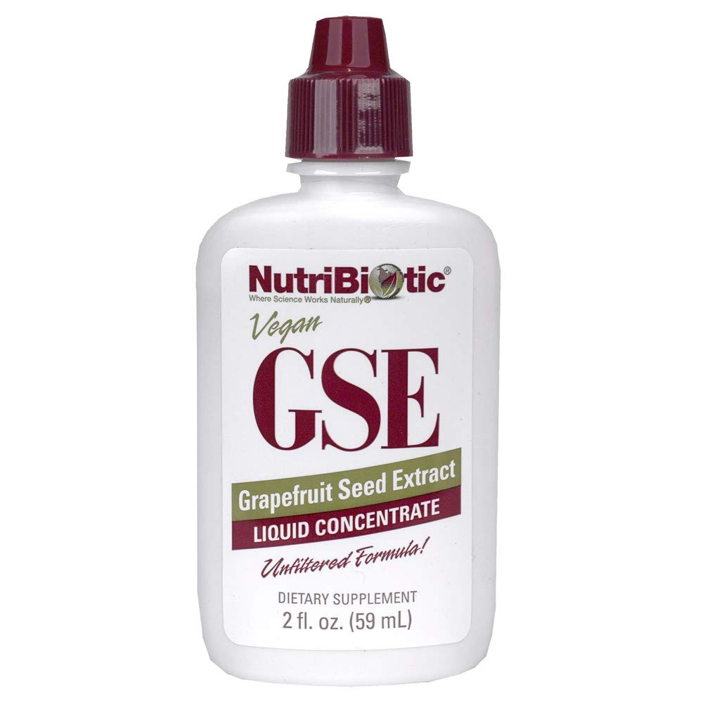 NutriBiotic Grapefruit Seed Extract Liquid Concentrate 2 Fl oz | GSE | Vegan | Potent, High Absorption | Non-GMO | Gluten Free | Dietary Supplement