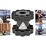 Fishing Rod Retainer - The multiple fishing rod holder and carrier designed for the dock and boat. Holds, stores, protects, and transports rods with a handle