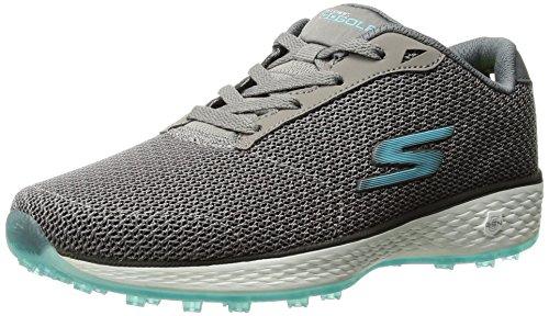Twinkle Toes by Skechers Skechers Performance Women's Go Golf Birdie Golf Shoe, Charcoal/Blue, 7.5 W US – DiZiSports Store