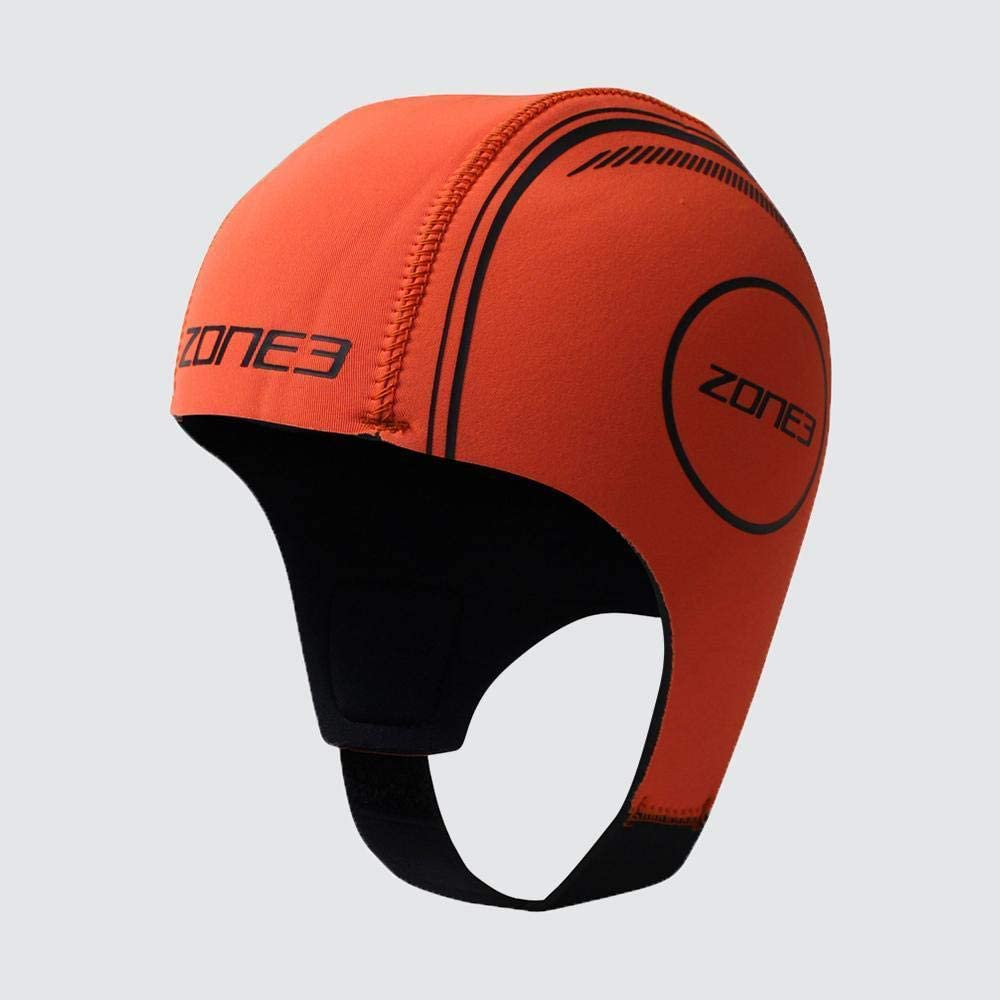 ZONE3 Neoprene Schwimmkappe hi-vis orange 2020 Badekappe