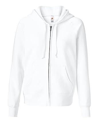 Amazon.com  Hanes EcoSmart Women`s Cotton-Rich Full-Zip Hoodie ... b758e5742d