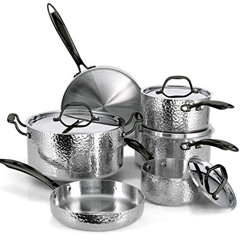Steel Cookware Set (10-Piece) -Oven and Grill safe Kitchen...