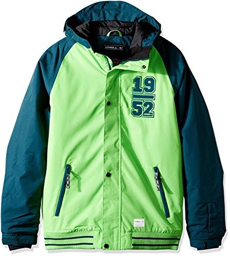 Oneill Snowboard Jackets (O'Neill Boys Player Jacket, Lime, Size 16)