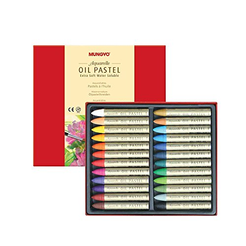 Mungyo Water-Soluble Oil Pastel Set of 24 - Assorted Colors by Mungyo