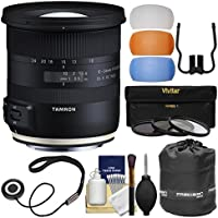 Tamron 10-24mm f/3.5-4.5 Di II VC HLD Zoom Lens with 3 UV/CPL/ND8 Filters + Pouch + Flash Diffusers + Kit for Canon EOS Digital SLR Cameras
