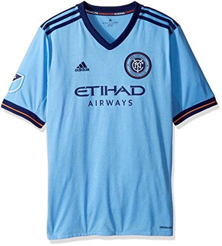 Youth Tee Wordmark Blue - MLS New York City FC Youth Unisex Replica Wordmark s/jersey, Light Blue, X-Large
