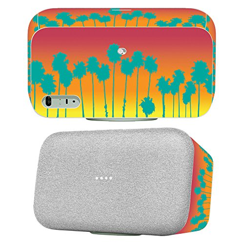 Skin for Google Home Max - Sherbet Palms  MightySkins Protective, Durable, and Unique Vinyl Decal wrap cover   Easy To Apply, Remove, and Change Styles   Made in the (Sherbet Mint)