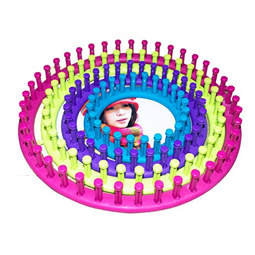 ULTNICE Knitting Loom Circular Knit Crochet Kit for Wool Yarn Thread Fabric Flowers 4pcs