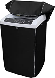 "Portable Washing Machine Cover,Top Load Washer Dryer Cover,Waterproof Full-Automatic/Wheel Washing Machine Cover(24""25""38""inches,Black)"