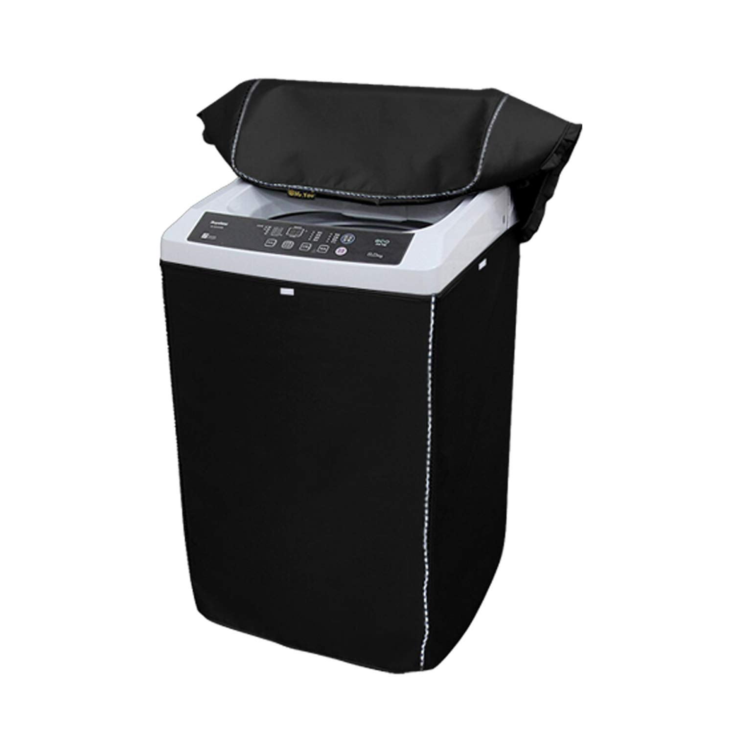 Portable Washing Machine Cover,Top Load Washer Dryer Cover,Waterproof Full-Automatic/Wheel Washing Machine Cover(24''25''38''inches,Black) by Mr.You