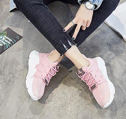 Ginnastica e da per da Casual Sportive Scarpe Primavera da DANDANJIE Traspiranti Scarpe Donna Leggere Rosa Ginnastica Autunno Scarpe Yoga Estate SYxqB