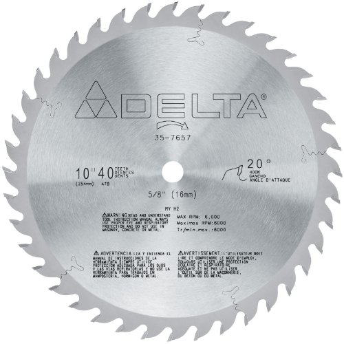 DELTA 35-7657 10-Inch 40 Tooth General Purpose Circular Saw Blade