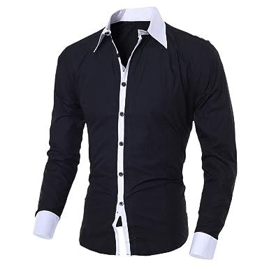 Amazon.com: Camisas de negocios para hombre, LuluZanm Ventas ...